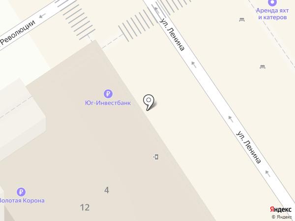 Банкомат, ЮГ-Инвестбанк на карте Анапы