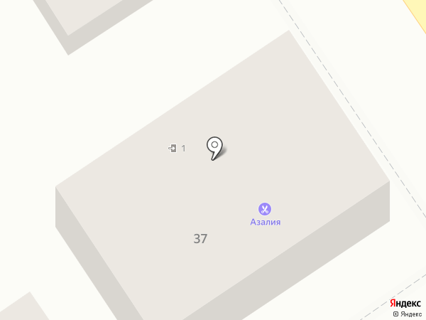 Азалия на карте Анапы