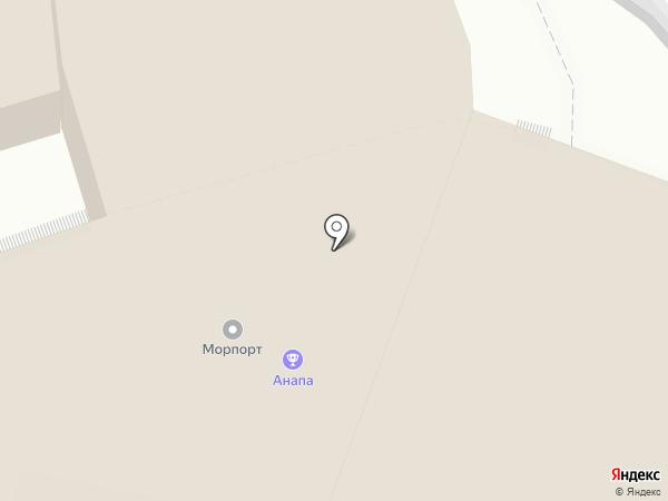 Причал Марина на карте Анапы