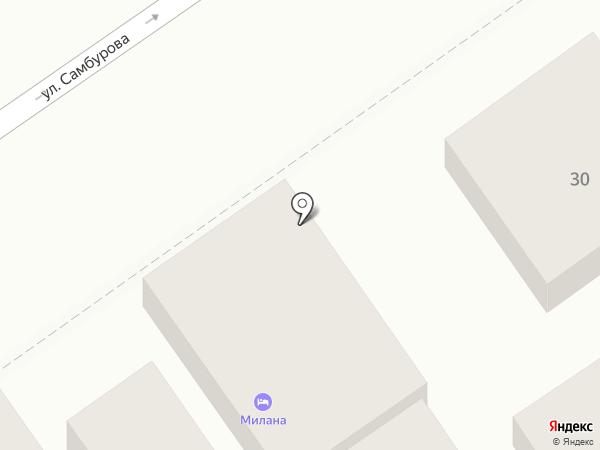Милана на карте Анапы