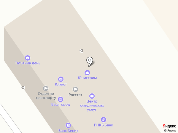 Анапа-Татьянин день на карте Анапы