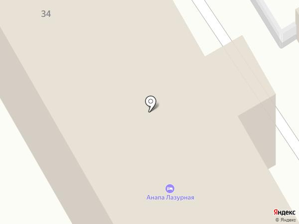 Анапа Лазурная на карте Анапы