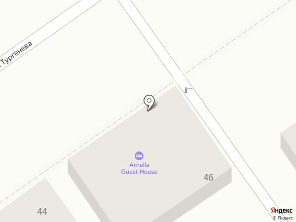 Гостевой дом на ул. Тургенева на карте Анапы