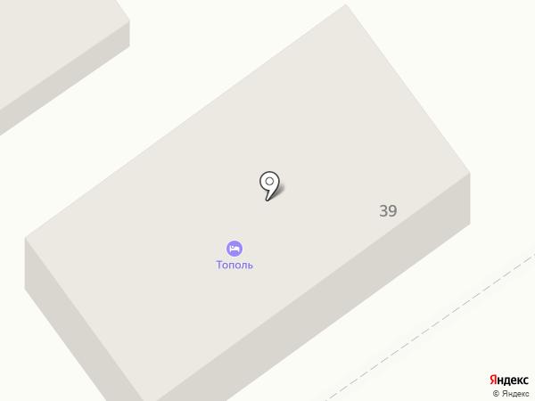 Тополь на карте Анапы
