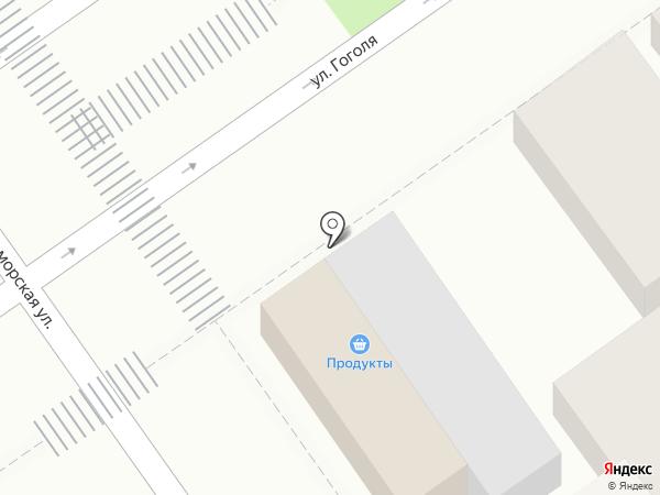 Магазин овощей на карте Анапы