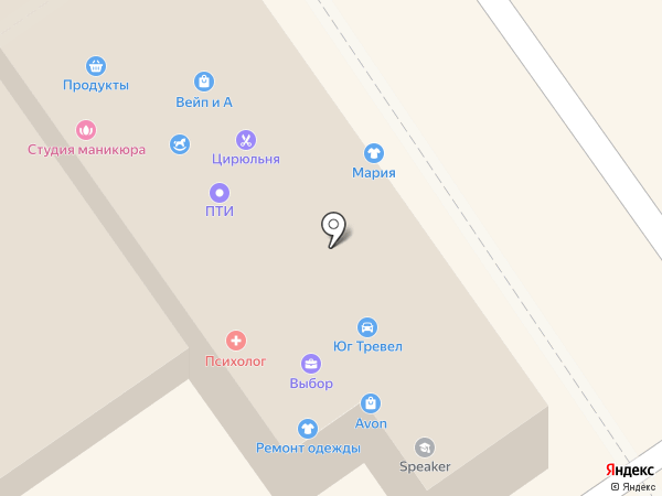 Тенториум на карте Анапы