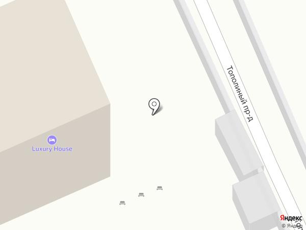 Luxury House на карте Анапы