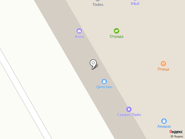 Todes на карте Отрадного