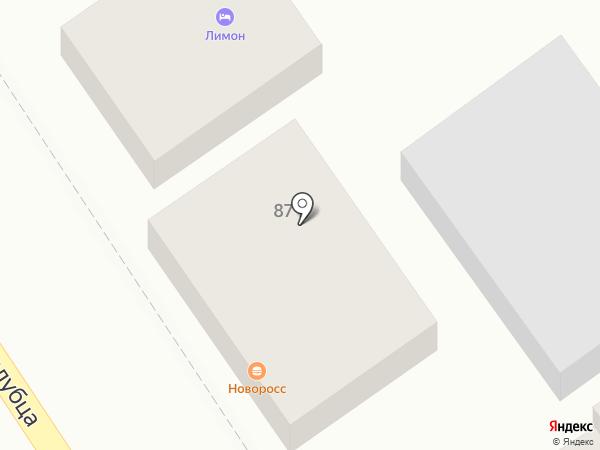 Новоросс на карте Анапы