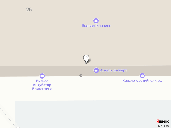 Красногорская качалка №1 на карте Красногорска