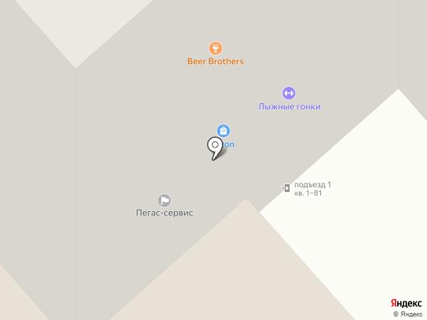 Магазин зоотоваров на ул. Ленина на карте Красногорска
