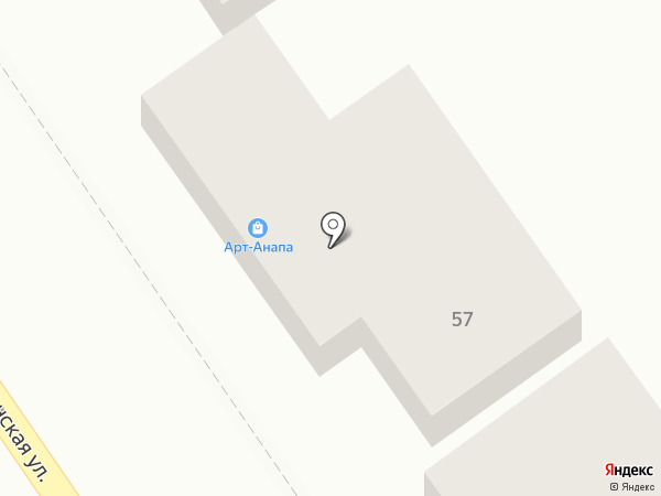 Арт-Анапа на карте Анапы