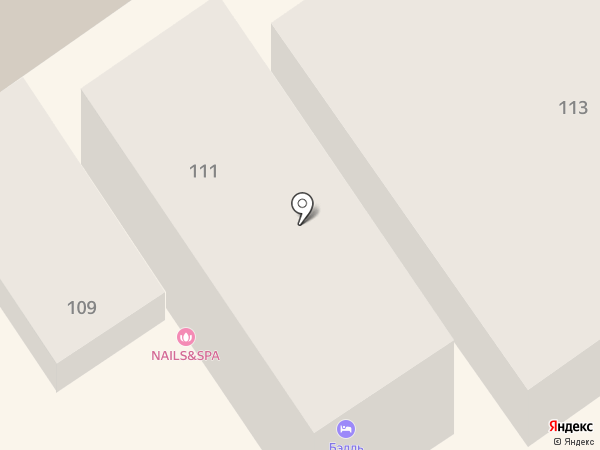 Бэлль на карте Анапы