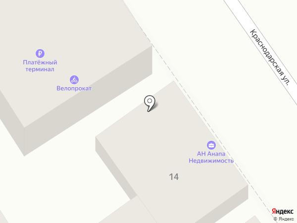 Анапа-недвижимость на карте Анапы