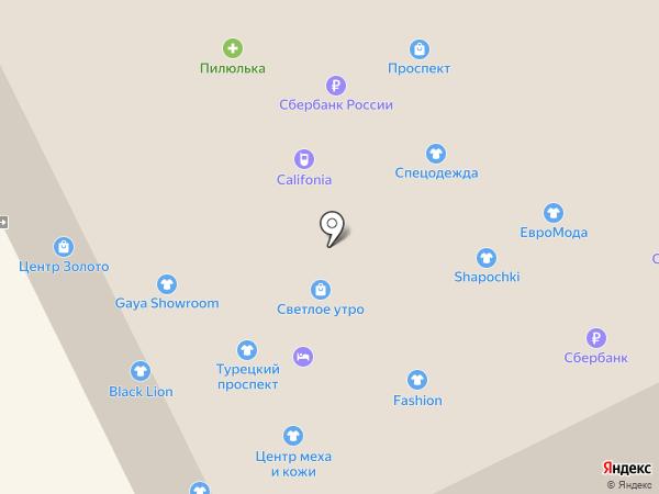 Кокетка на карте Анапы