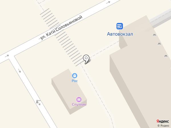 Спутник на карте Анапы