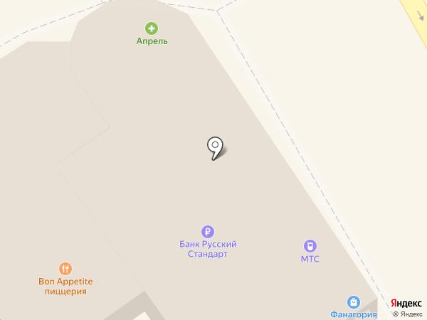 ЮГ на карте Анапы