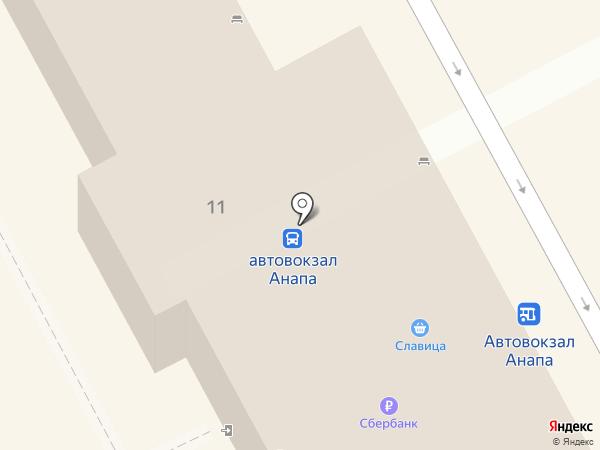 Автовокзал на карте Анапы