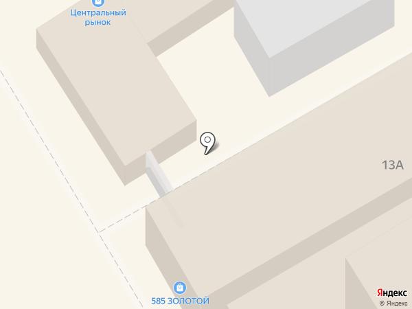 Центральный рынок на карте Анапы