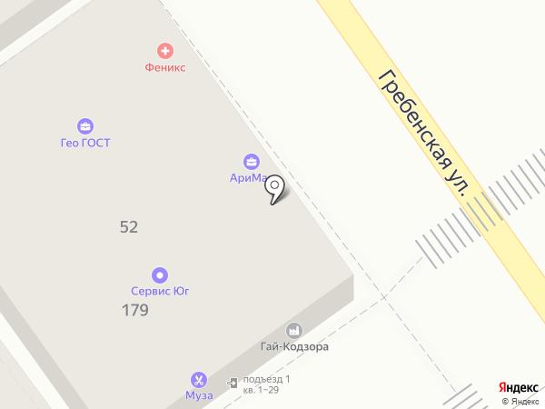 Муза на карте Анапы