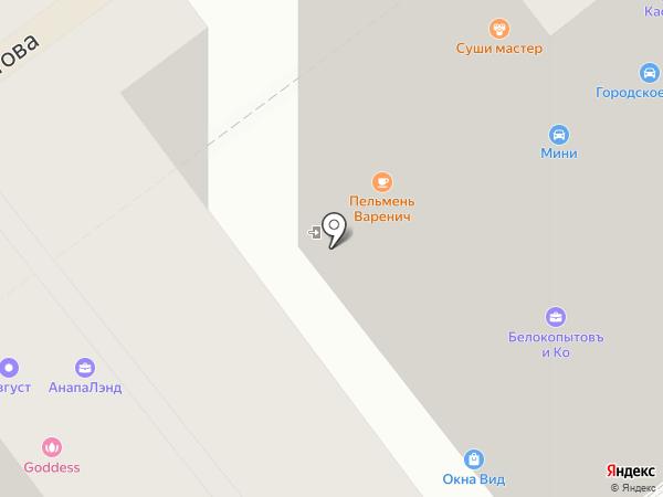 Лермонтов на карте Анапы