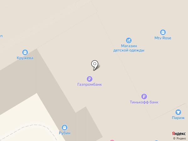 Магазин тканей на карте Анапы