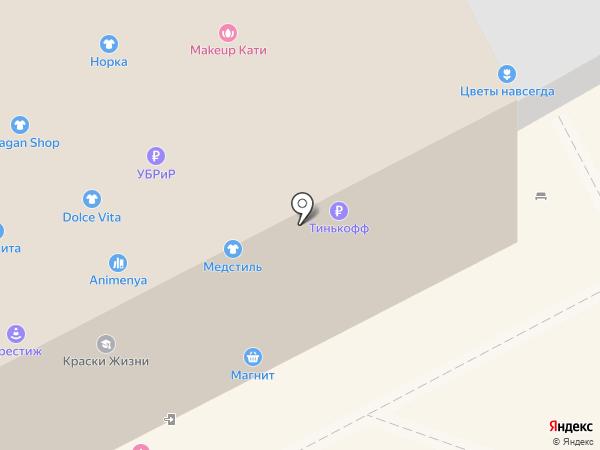 Анапа Проспект на карте Анапы