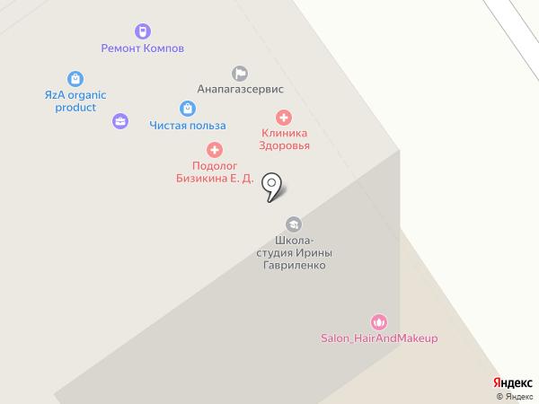 Московская ярмарка на карте Анапы