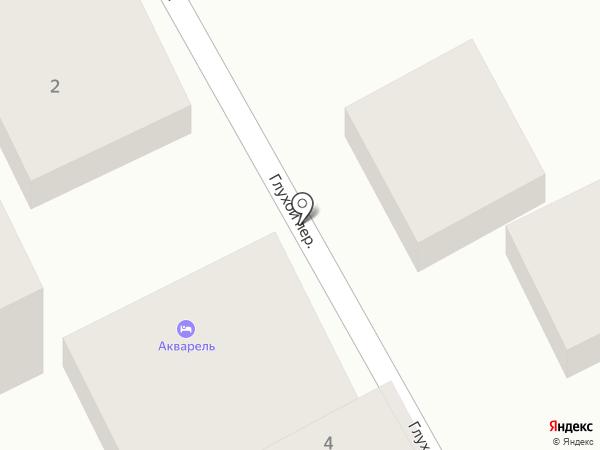 Акварель на карте Анапы