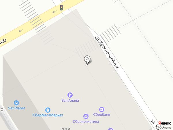 Зелёный на карте Анапы