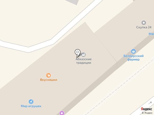 Пакетный дом на карте Анапы