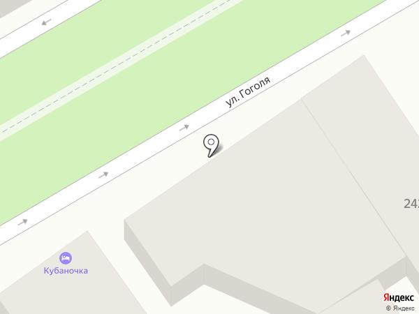 Кубаночка на карте Анапы