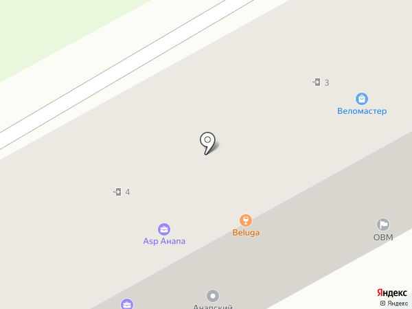 Анапский туристско-экскурсионный центр на карте Анапы