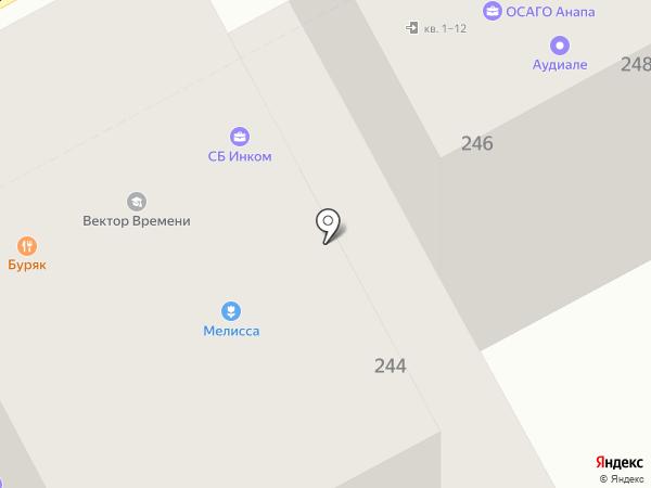 Ришелье на карте Анапы