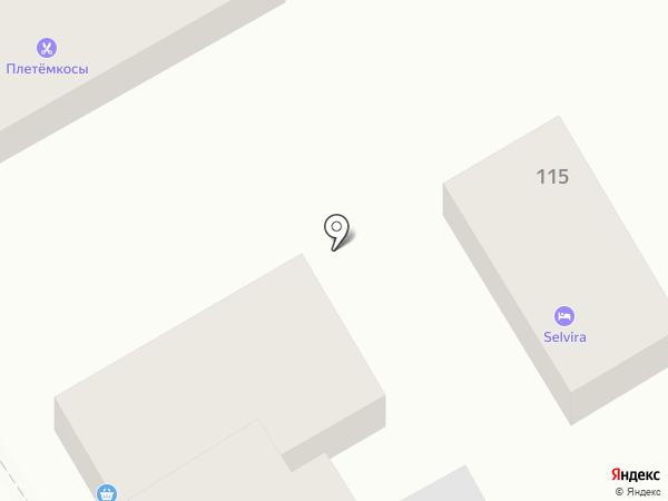 Бирюза на карте Анапы