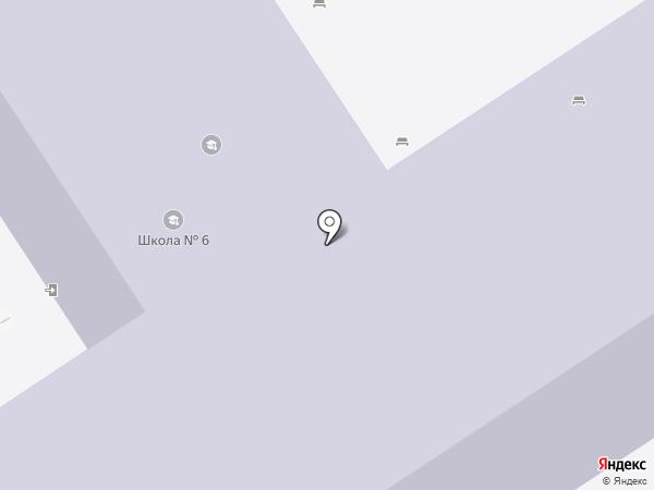 Средняя общеобразовательная школа №6 на карте Анапы