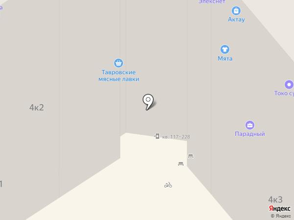 Строительный на карте Анапы