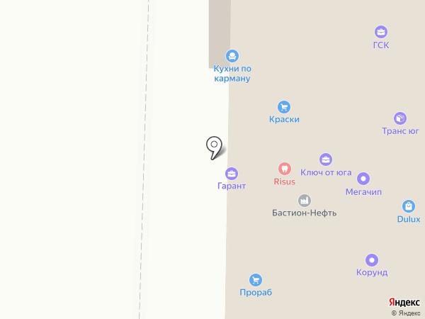 Кубанский хутор на карте Анапы