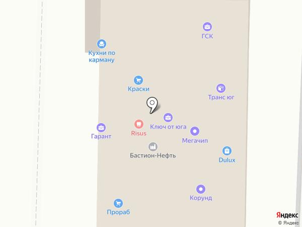 Прораб на карте Анапы
