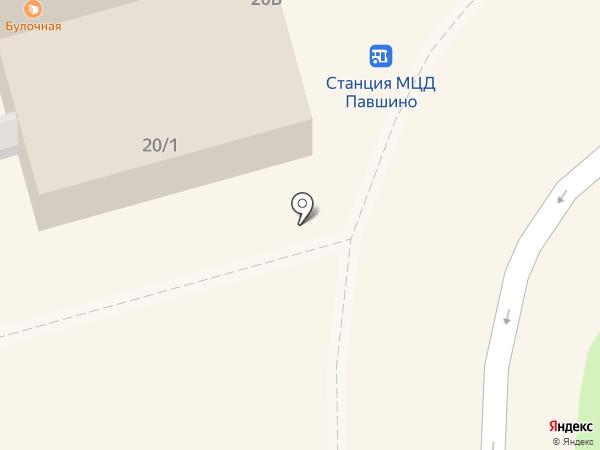 Киоск по продаже фруктов и овощей на карте Красногорска