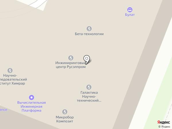 Технопарк Сколково на карте Москвы