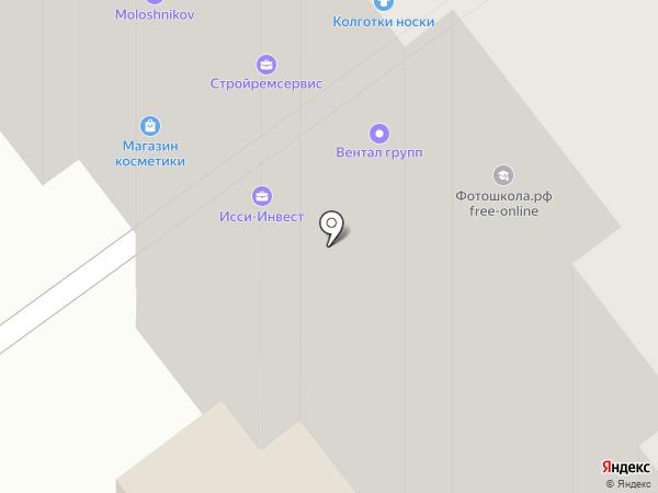 Магазин нижнего белья на карте Красногорска