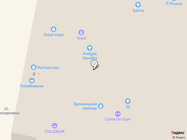 Come On Gym на карте Красногорска