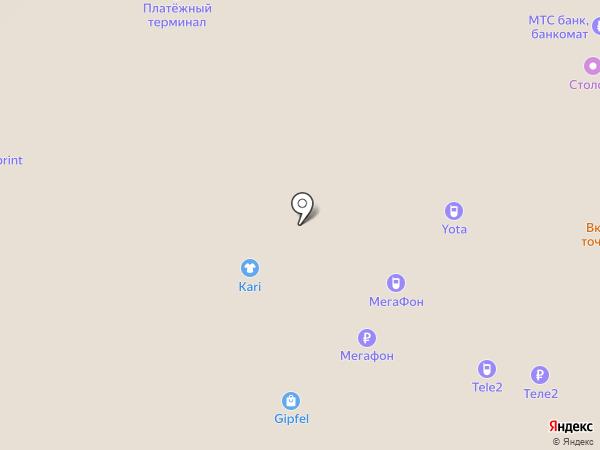 Tele2 на карте Московского