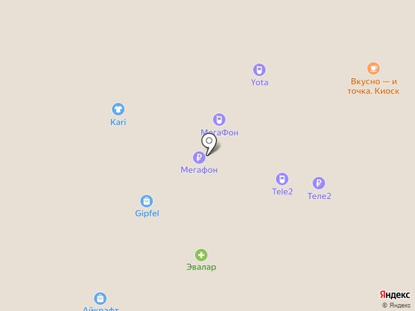 МегаФон на карте Московского