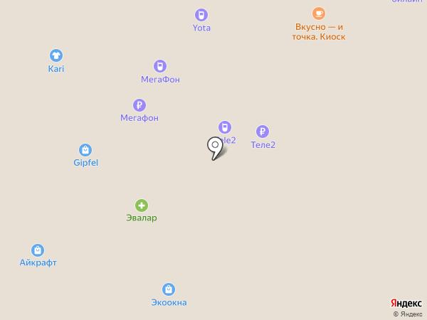 Билайн на карте Московского