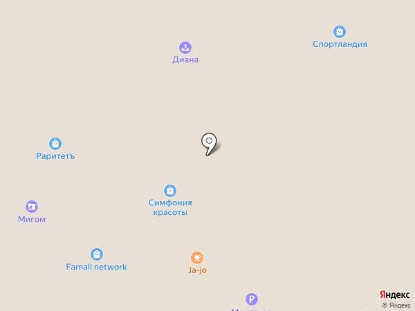 Мишутка на карте Московского