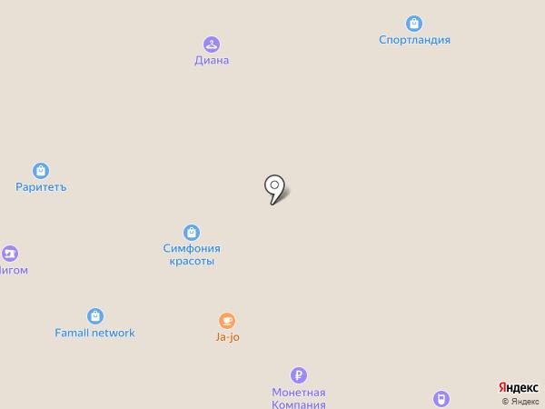 Ювель на карте Московского
