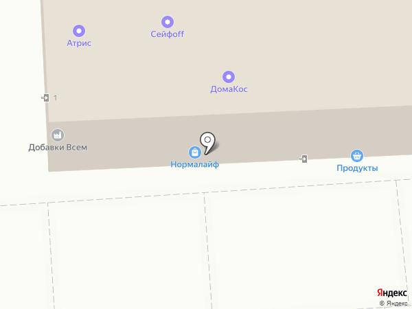Парикмахерская эконом-класса на карте Москвы