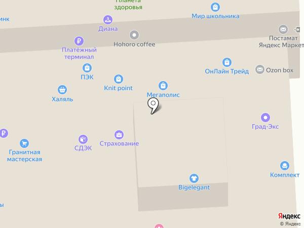 Элегант на карте Москвы